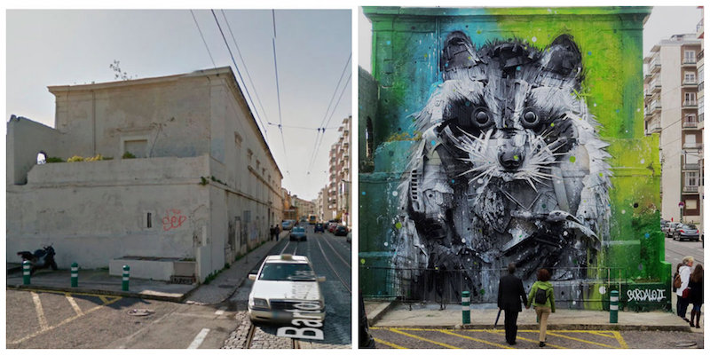 Trash And Found Object Racoon Mural, Lisbon, Portugal.jpg