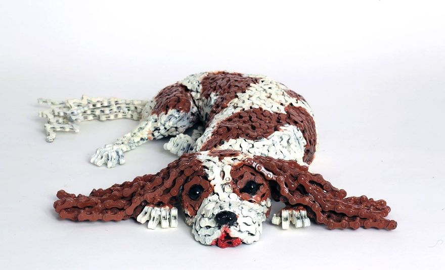 Unchained dog art - Very cool