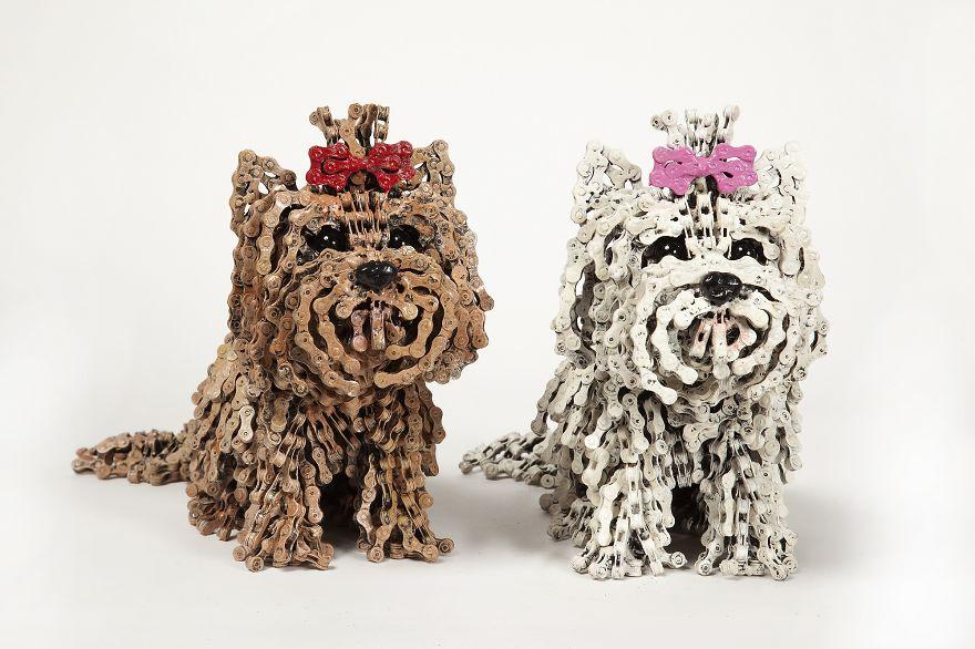 Unchained dog art work