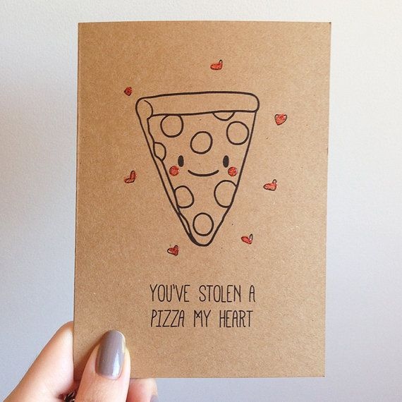 Valentines Day Card - Pizza