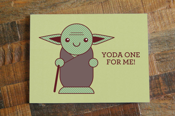 Yoda One For Me Valentines Day Card