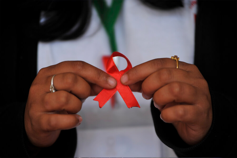 a ribbon is support of youth aids awareness.jpg
