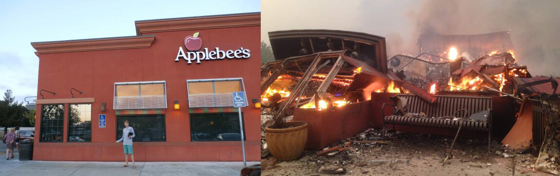 An Empty Applebee's Was Burned To The Ground