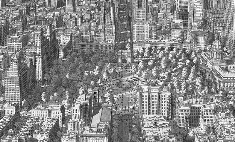 artist recreates famous cities