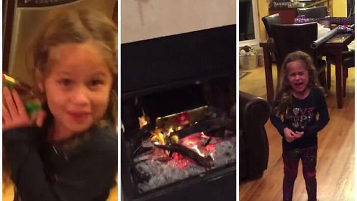 This Dad Threw Christmas Presents Into The Fireplace – Or Did He?