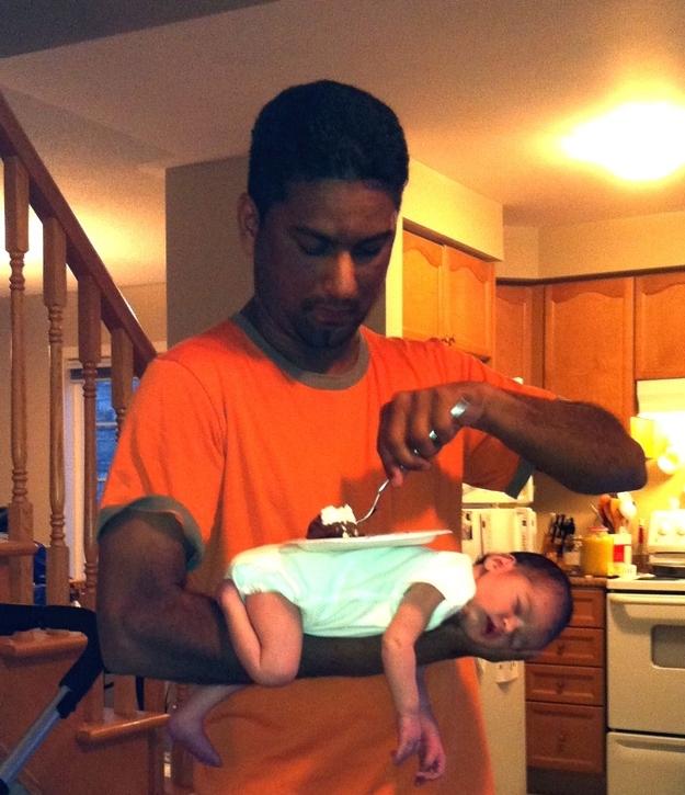 Dad Multi tasks