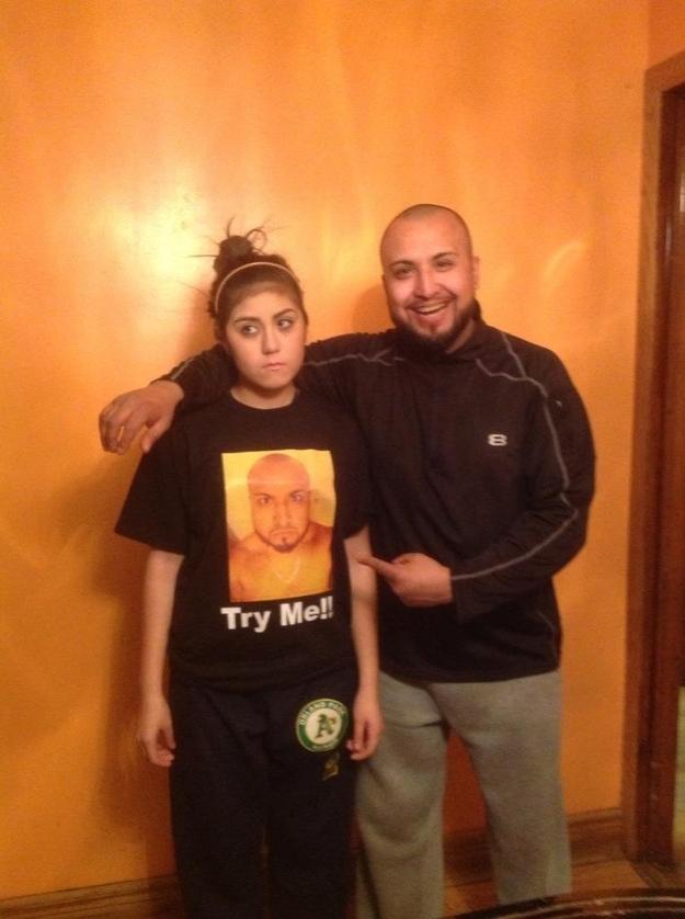 Dad on Girl's Shirt