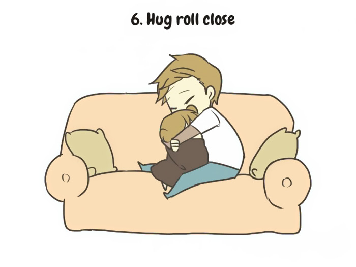 hug roll close