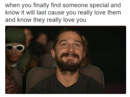 Even Shia LeBeouf can bring us happiness.