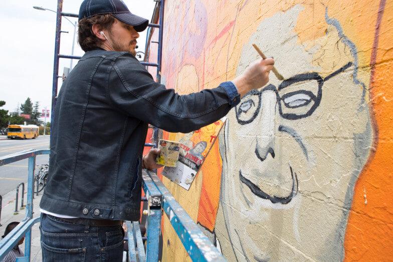 James Franco Paints For Fun