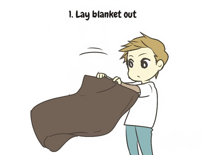 lay blanket out