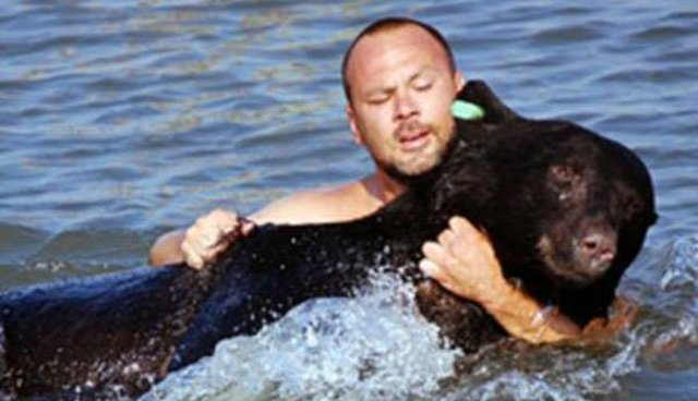 Man Dives Into Ocean And Saves 400-Pound Bear