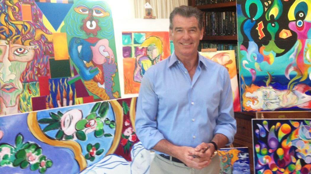 Pierce Brosnan Is a Trained Illustrator