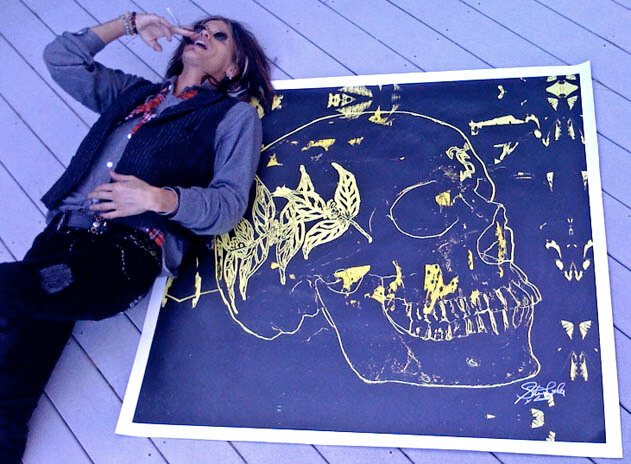 Steven Tyler Paints Skulls As a Symbol Of Defiance
