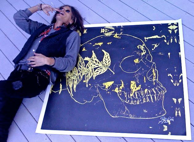 Steven Tyler Paints Skulls As a Symbol Of Defiance